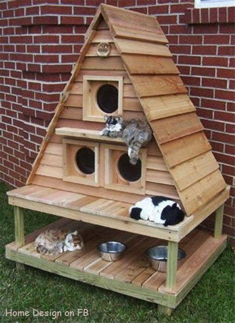 buy cat house outdoor cat house for the farm pinterest