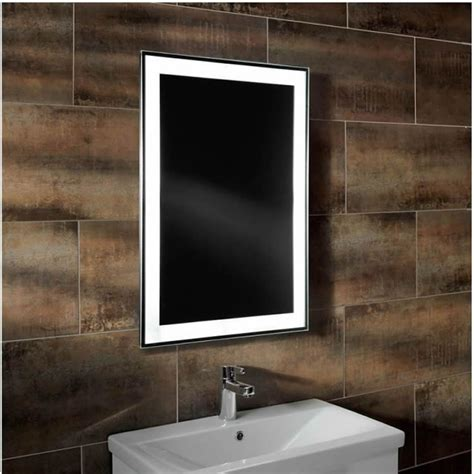backlit mirrors for bathrooms roper rhodes clarity status backlit heated mirror mlb280