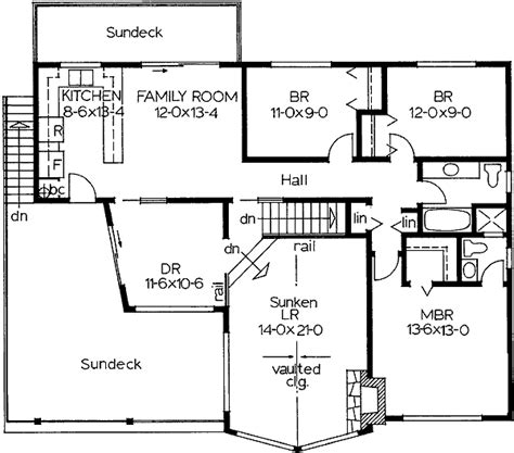 Basement Entry House Plans by Multi Featured Basement Entry 6724mg Architectural