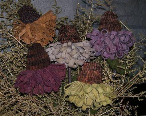 Hooked Rug Patterns Primitive Primitive Rug Hooking Pattern Cone Flowers Prhg