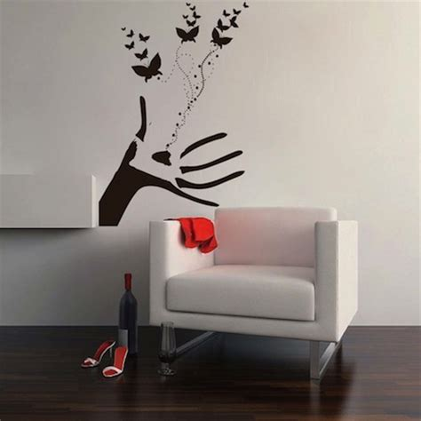 trendy wall designs butterflies hand wall decal wall decals from trendy wall