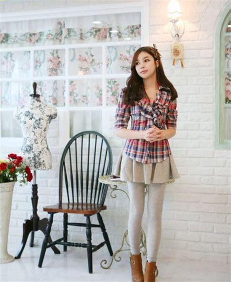 Mini Dress Dress Korea White Sweet Roses L Import Original blouse top korean fashion plaid asian shirt pink
