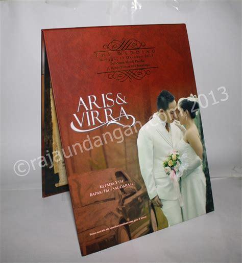 Undangan Pernikahan Manten Elegan undangan pernikahan pop up hardcover aris dan virra