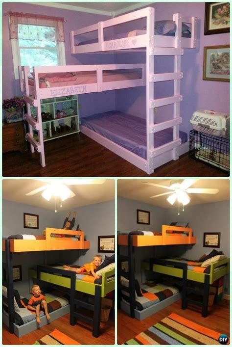 diy kids bunk bed  plans picture instructions
