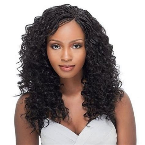 plaited hair styleson black hair how to get curly micro braids hairstyles pictures