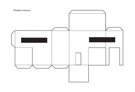 Paper Folding House Template - house template clipart best