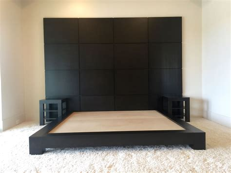 platform bed with built in nightstands hand made custom espresso platform bed with nightstands by