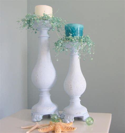 shabby chic candlesticks decor candlesticks nautical cottage shabby chic