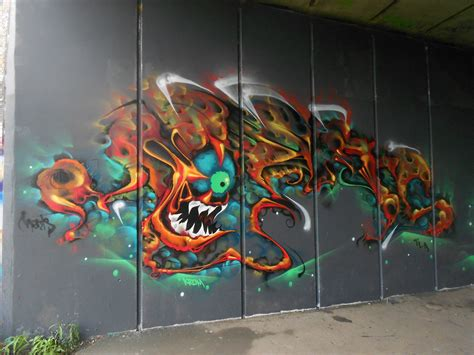 art color graffiti paint psychedelic urban wall rue