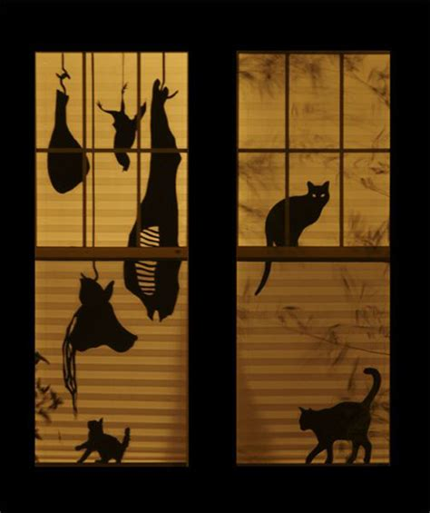 25 scary diy halloween window silhouettes home design