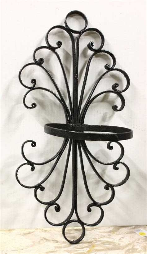 4517 Wrought Iron Wall Planters Lot 4517 Wrought Iron Wall Planters