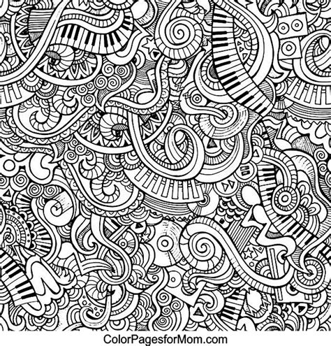 doodle coloring pages for adults doodles 59 advanced coloring page