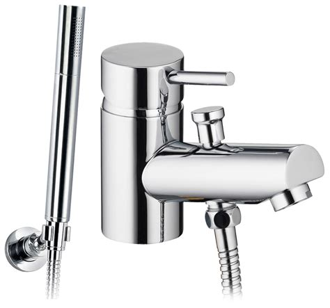 mono bath shower mixer tap pura xcite mono bath shower mixer tap with handset and hose