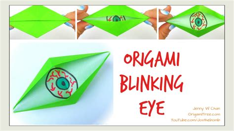 Origami Blinking Eye - origami diy how to make blinking eye origami jk arts