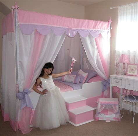 glitz glam canopy bed with bedding princess bed