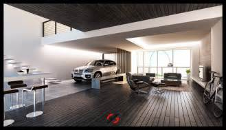 Living In A Garage Stylish Living Rooms