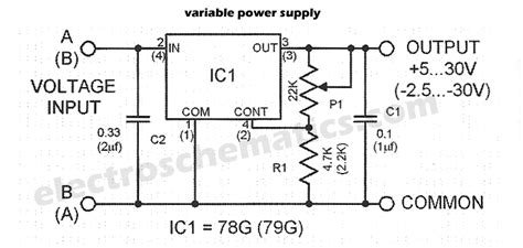 circuit diagram of variable power supply variable power supplies projects and circuits