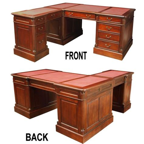 L Shaped Corner Desks L Shaped Corner Pedestal Desk Mahogany Akd Furniture