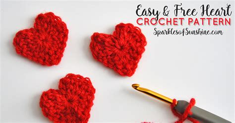 crochet valentines day easy free crochet pattern for s day