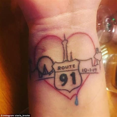 tattoo on neck of las vegas shooter las vegas survivors memorialize massacre with tattoos