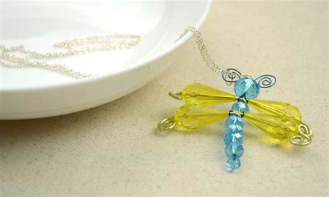 beaded dragonfly pendant family crafts