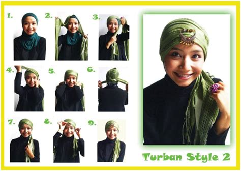 tutorial rajut turban tutorial hijab sharing di sini