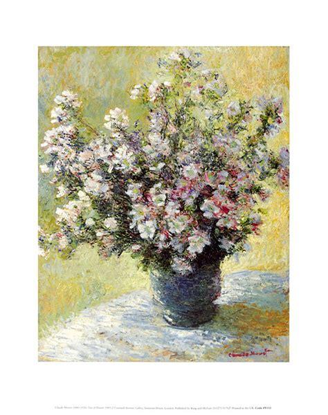 vase mit blumen claude monet vase mit blumen poster kunstdruck bei
