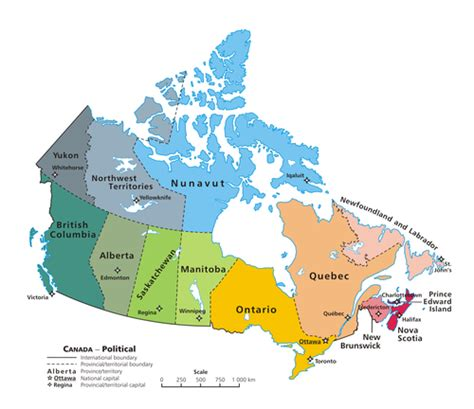 canadian map political provinces and territories of canada simple