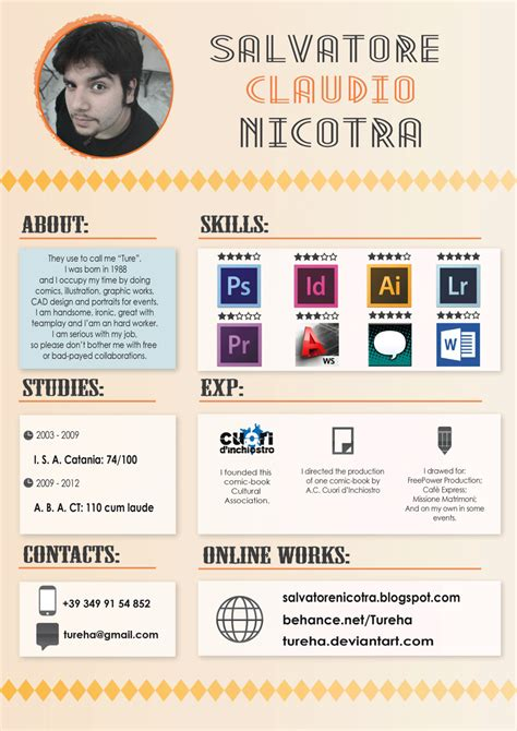 Interesting Resume Designs by 1000 Images About Resume Designs On Cool