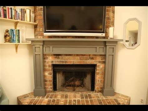 how to install a mantel on a brick fireplace build a mantel a brick fireplace
