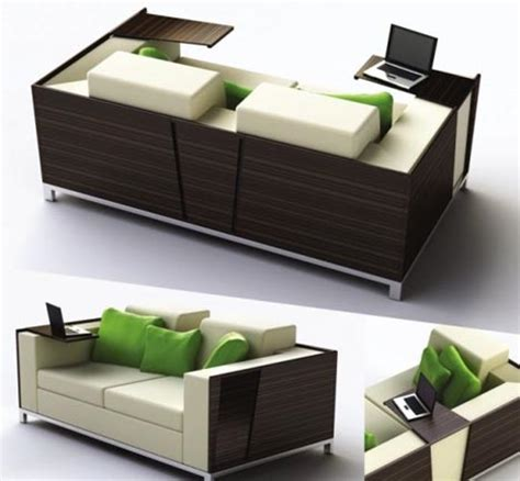 Desk For Sofa by Flip Open Sofa Shelves Combined Desk Design