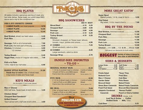 smokehouse restaurant barbecue rib dinner menu ideas