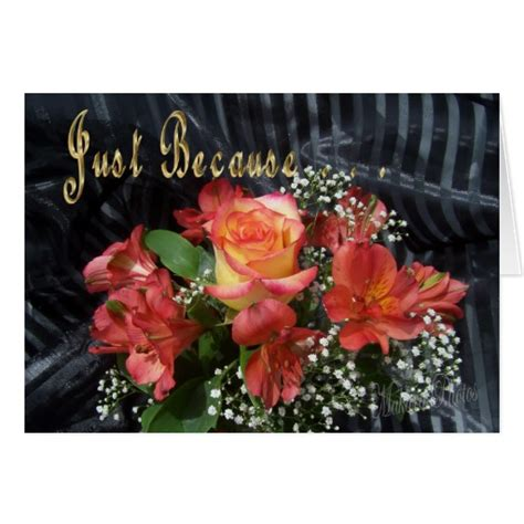 Just Flowers by Just Because Flowers Card Zazzle