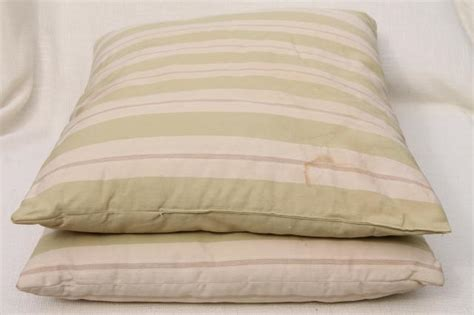 large bed pillows vintage cotton ticking pillows pair of large feather