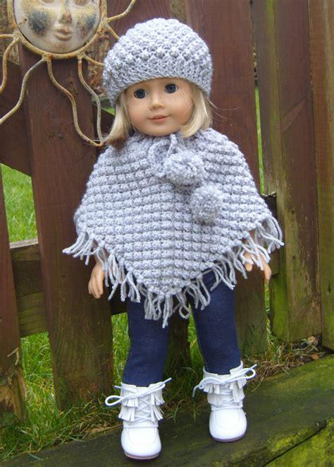 knitting patterns for american dolls american doll blackberry poncho set pdf by jacknitss
