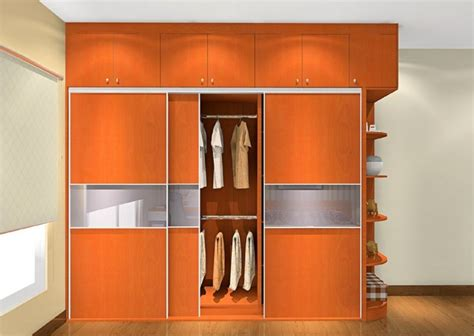 wood wardrobe for a minimalist bedroom 3d house