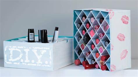 Charmant Rangement Dans Petite Chambre #6: boite-rangement-maquillage-astuce-bleu.jpg
