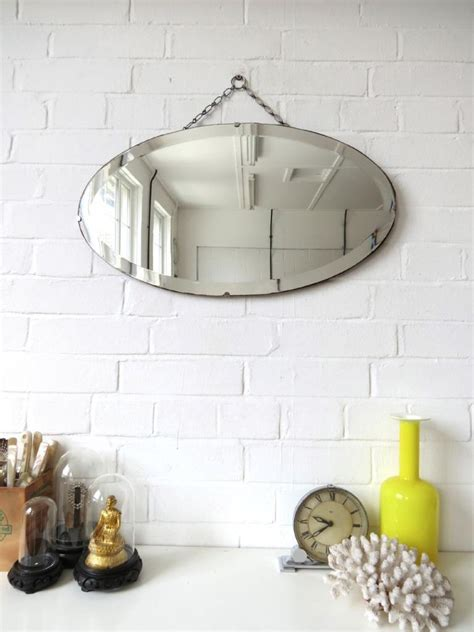 frameless wall mirrors art deco mirrors bathroom mirrors vintage oval art deco bevelled edge wall mirror or