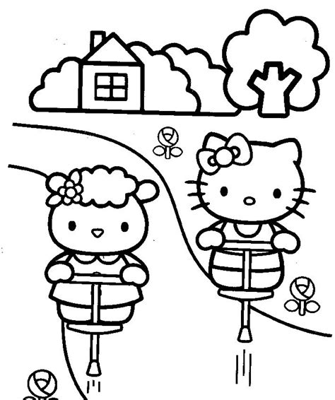 hello kitty coloring pages you can print fifi and hello kitty coloring pages you can print
