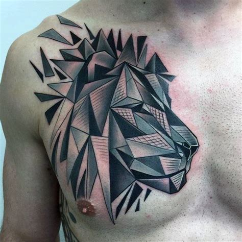 geometric lion tattoo 60 geometric designs for masculine ideas