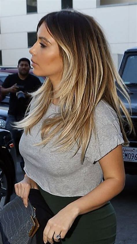 kim kardashian blonde balayage highlights photos balayage kim k
