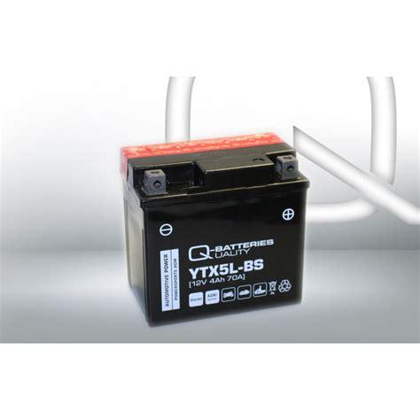 Motorrad Batterie Ctx5l Bs by Q Batteries Motorrad Batterie Ytx5l Bs 50412 Agm 12v 4ah 70a