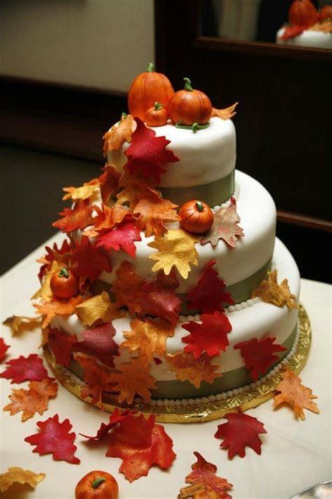 Wedding Cake Autumn by 15 Fall Wedding Cake Ideas You May Pretty Designs