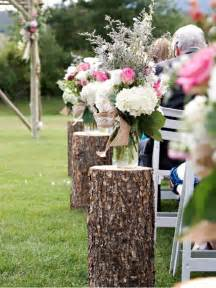 Cheap Wedding Arch Wood Stumps Aisle Decozilla