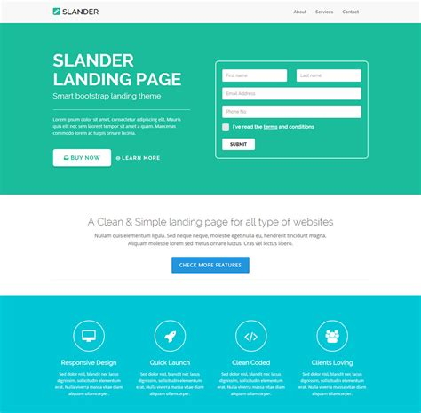 html landing page templates free 15 best start up landing pages to free