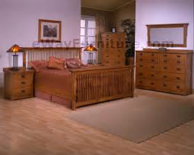 King Size Mission Bedroom Sets Solid Oak Mission Spindle Bedroom Set