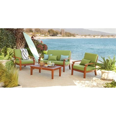 brooks island wood patio furniture collection smith