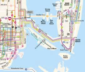 Miami Bus Map by Miami Transit Routes And Map Bing Images