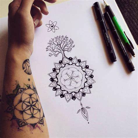 tattoo mandala tree mandala tree tattoo commission on behance