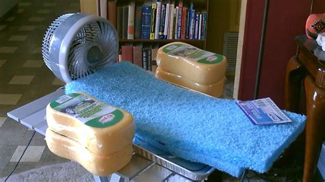 how to make a room cooler homemade quot sponge quot humidifier air cooler diy fan forced